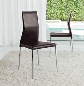 Picture of NICOLE MET, leather upholstered chairs