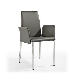Picture of Ninfea Q, chair upholstered in leather