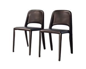 Picture of Organic chair 10.0196, leather dining chairs