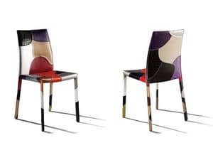 Picture of Patchwork, leather dining chair