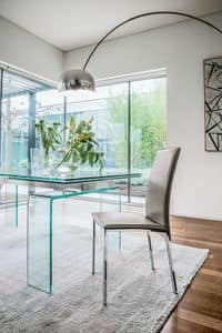 PLAZA, Modern chair in metal and wood for dining room