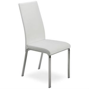 Regina, Metal chair, covered in leather, high back