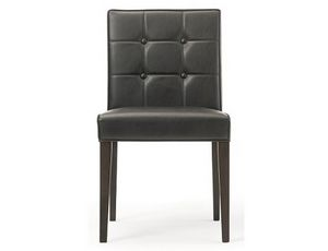 Rina-S, Leather chair, with backrest available with buttons