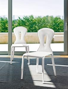Picture of SHARM, leather dining chairs