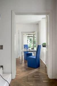 Picture of SORBONA, leather modern dining chairs