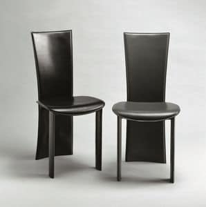 Wally, Leather chair, suitable for living room, restaurant, hotel