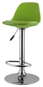 1581, Chrome stool with polypropylene shell, for bars