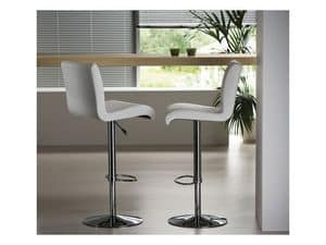 Picture of Stone SG, barstools with leather-ecoleather seat