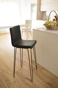 Valdo sgabello, Stool with steel rod structure with different finishings