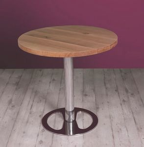 Center, Height adjustable table with wooden top