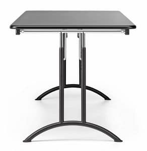 KOMBY 931, Folding table in metal and laminate, for conference