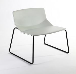 Formula tech LO, Lounge chair, polyurethane shell, for lounge and waiting areas