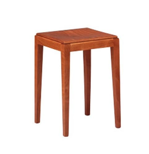 253, Low stool in beech, robust, simple style