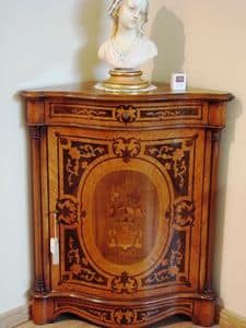 Art. 1479, Classic corner cabinet for living room, in French style
