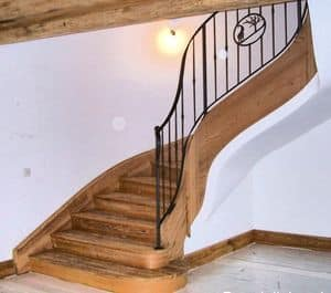 Iron and wood stairs, Iron and wooden stairs, in classic style