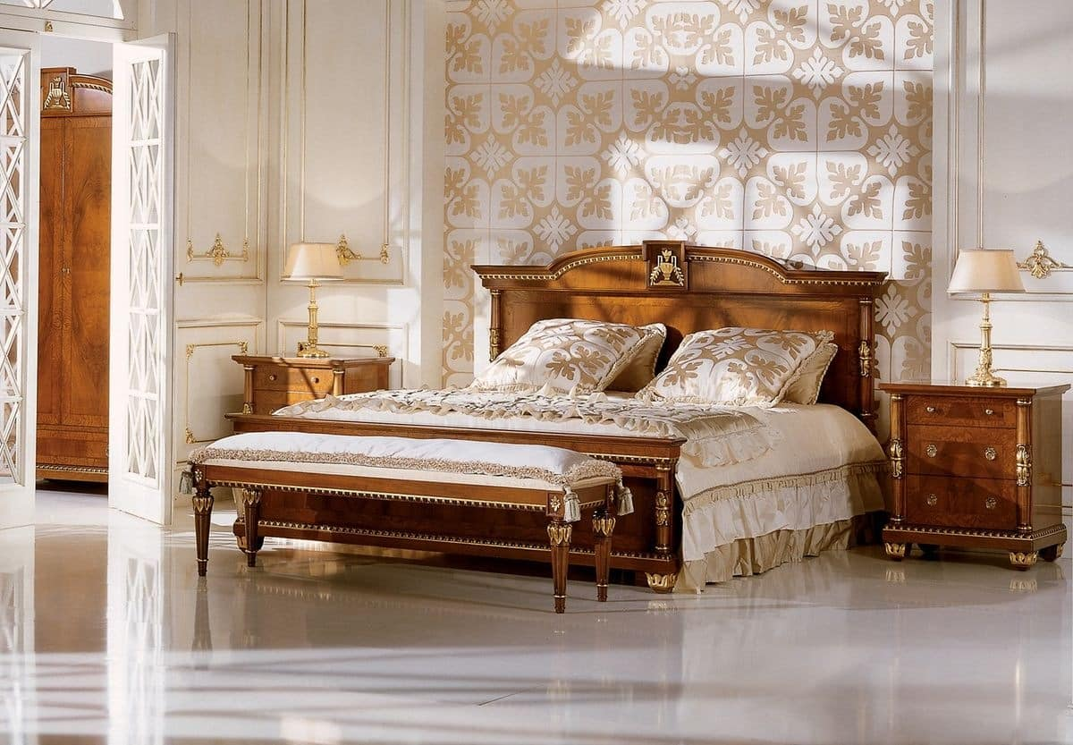 Double Bed For Bedrooms In Classic Luxury Style Idfdesign