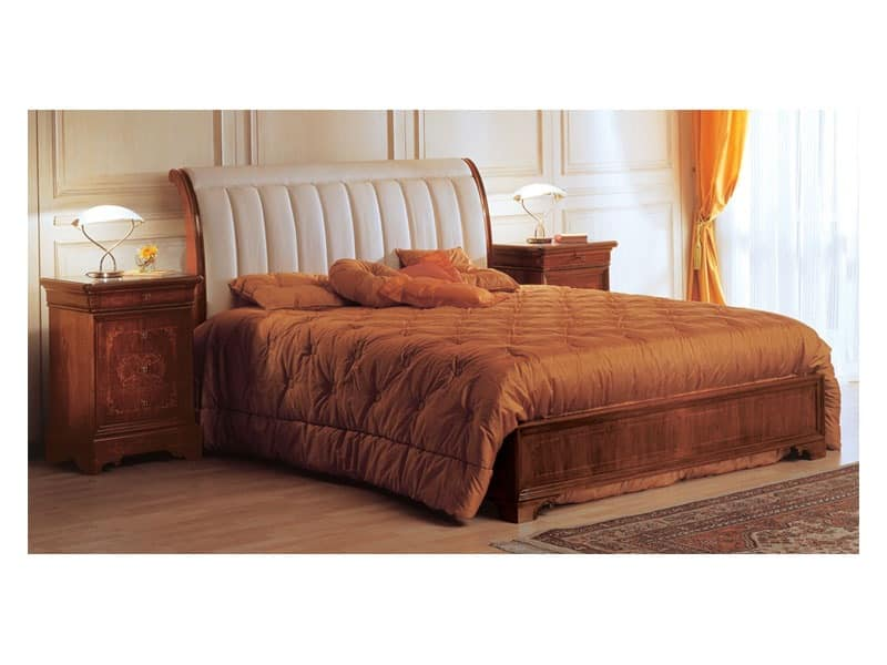 Art. 2026/279/P '800 Francese Luigi Filippo, Classic style bed, padded headboard, for luxury hotel