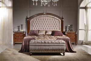 Art. 2086 SHELL, Luxurious bed with a large padded headboard