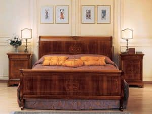 Picture of Art. 294/279 '800 Francese Luigi Filippo, sumptuously decorated beds