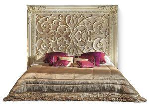 4020B, Bed with prestigious wooden headboard