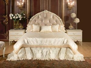 Art. 528, 800-style bed, with headboard and bedframe, in fabric