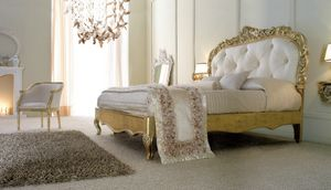 Art. 9051, Luxurious bed in gold finish