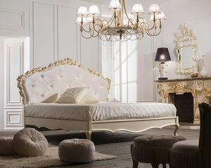 Art. 9099, Classic style bed with capitonn� headboard