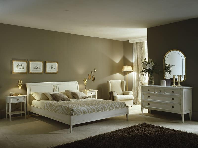 Classical Bedroom Luxe Bed By Meroni Ugo Figli Snc