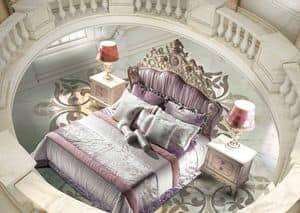 Bijoux Bedroom, Bed in luxury classic style, upholstered headboard