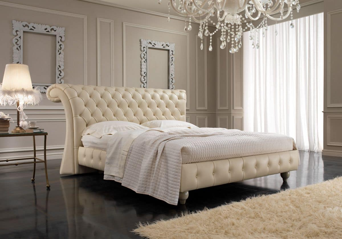 English style bedrooms - Chesterfield English Style Double Bed Capitonn Headboard For Bedrooms Hotels Villas