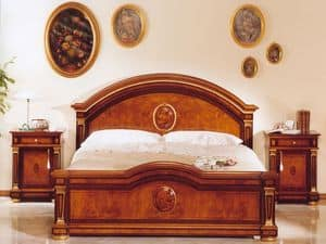 IMPERO / Double bed, Classic luxury double bed in wood, for castles