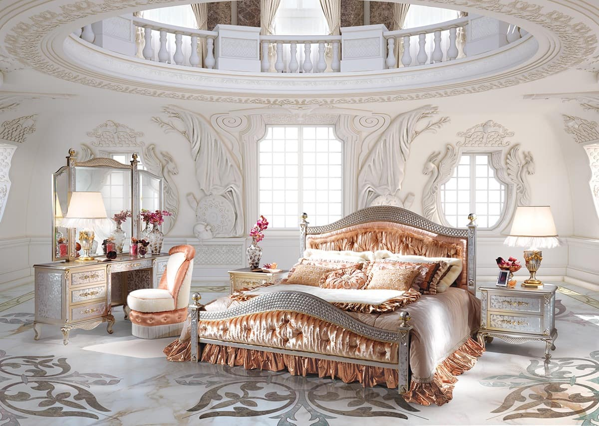 Classic bedroom composition classic bed with footboard for Luxury classic bedroom designs