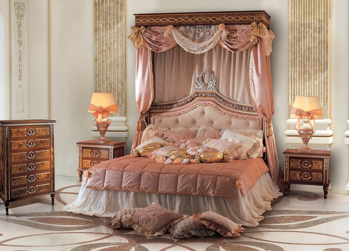 Double Bed With Upholstered Tufted Headboard IDFdesign