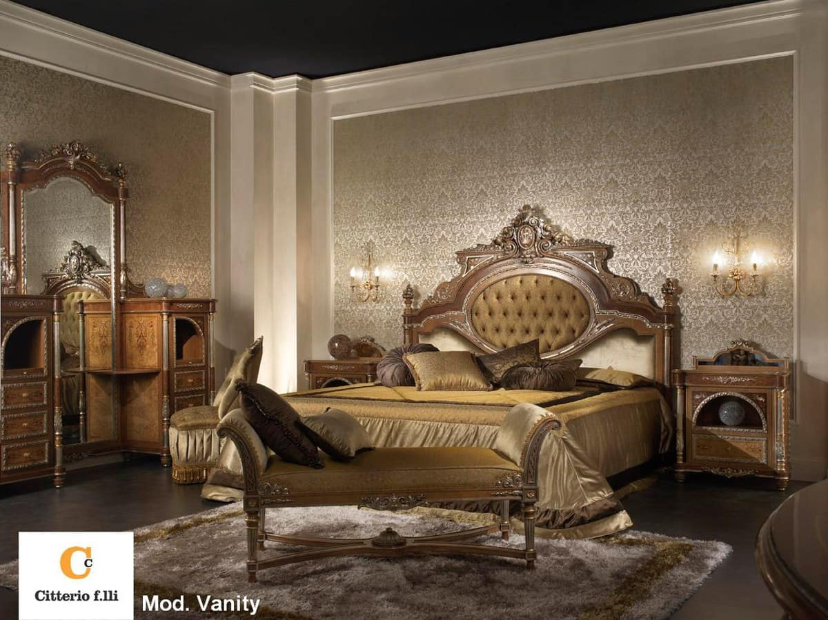 Classic luxury bedroom solid wood double bed idfdesign for Luxury classic bedroom designs