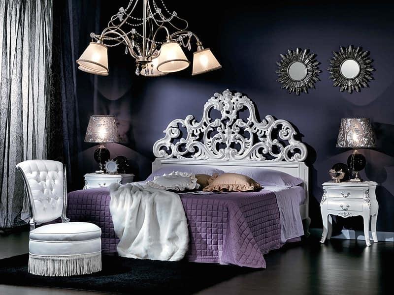 711 BEDSIDE TABLE, 2 drawers nightstand, bedside table, bedside tables Bedroom