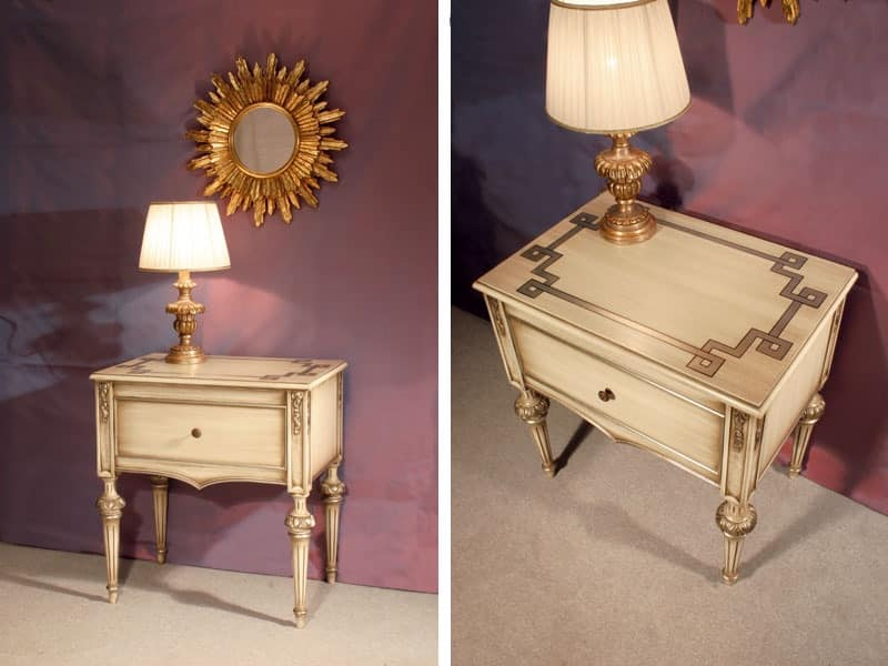 Art. 1340, Luxury classic bedside tables Hotel