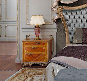 Art. 870/C, Wooden nightstand with geometric inlays