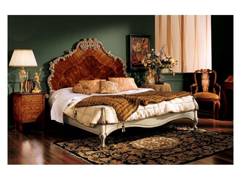 Barocco bedside table 735, Luxury classic bedside table