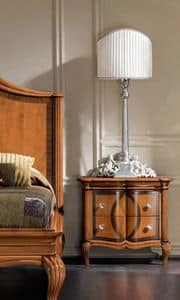 Bourbon Art. 22.426, Nightstand with classic style inlays and carvings, for hotels