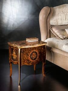 CD27 Metamorfosi, Bedside table with marble top ideal for bedrooms