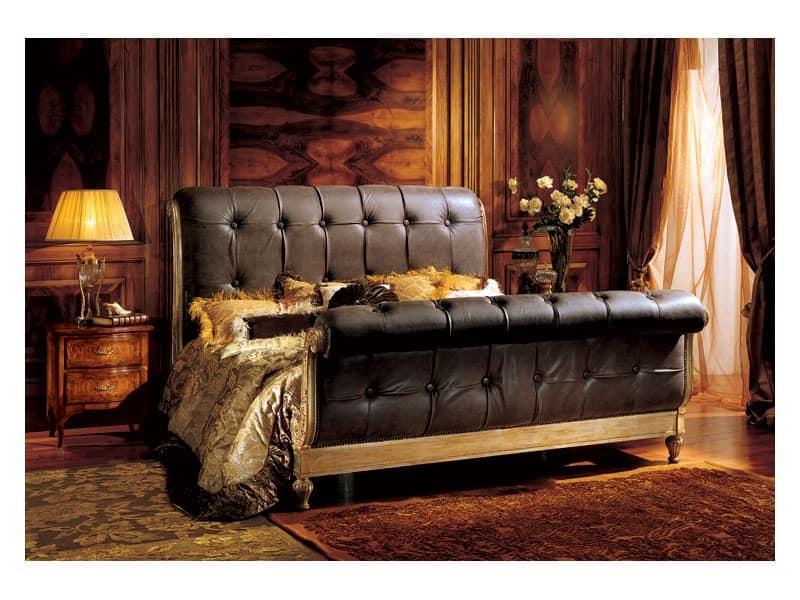 Gardenia bedside table 823, Luxury classic bedside table