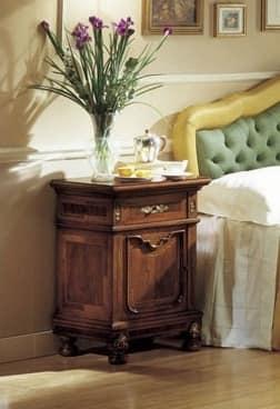 GRANDUCATO / Bedside table, Classic bedside table in walnut for Bedroom