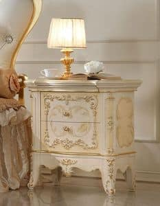 Group '700 Bedside table lacquered, Bedside table in handmade wood, for luxury bedrooms
