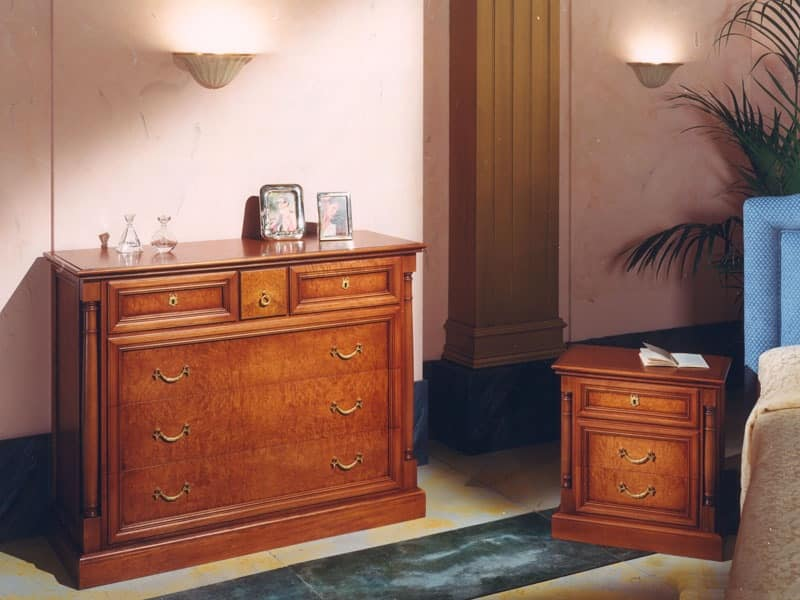 Impero Bedside Table, Carved nightstands Hotels