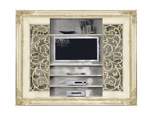 4047B, Sliding door bookcase with tv stand