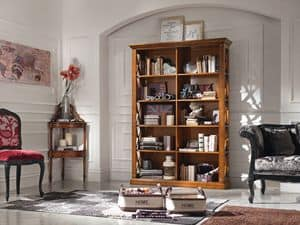 Art. 071 BOOKCASE, Symmetrical wooden bookcase, for classical lounges
