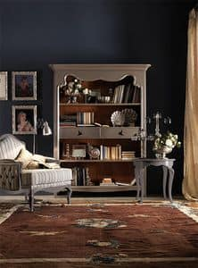 Art. AX401, Fine wood bookcase, with a country-chic style