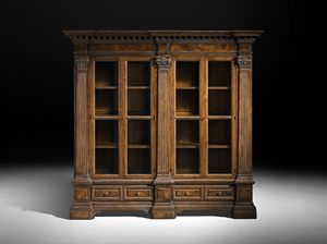 Art. C1 bookcase, Bookcase with corinthian capitals, Venetian classical style