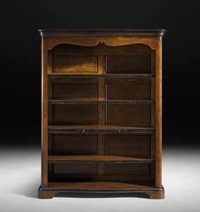 Art. C16 bookcase, Walnut bookcase with pull out shelf