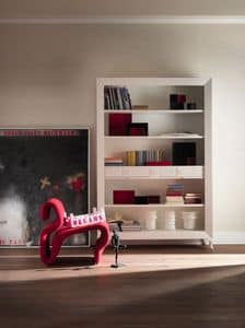 Art. CA413, Bookcase in classic style, with drawers, made of in precious wood